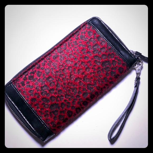 Handbags - Red Leopard rockabilly punk goth purse clutch